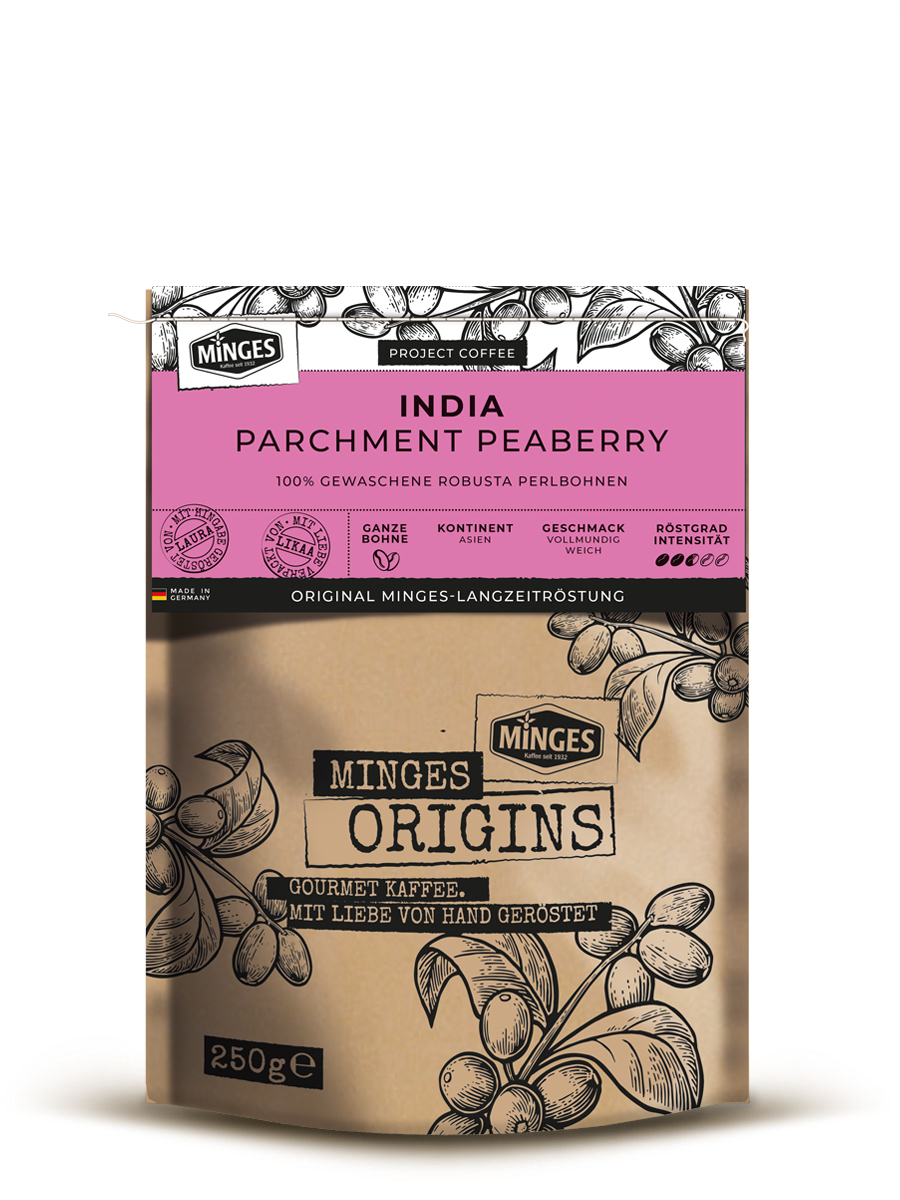 India<br>Parchment Peaberry